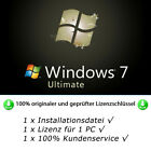MS Windows 7 Ultimate 32bit/64bit Instant Multilanguage Original License Key Preis Sofortkauf:  - 5,90 €*