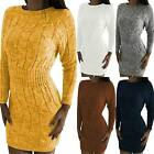 Damen Strickkleid Pullikled Winter Sweater Pullover Jumper Party Slim Minikleid Preis 14,05 EUR*